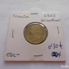 Monedas antiguas de Europa: FRANCIA 10 CENTIMOS 1963. Lote 61708616