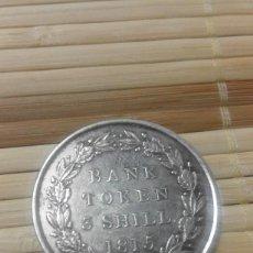 Monedas antiguas de Europa: 1815 GEORGE III TOKEN BANK 3 CHELINES PLATA. ESCASOS. Lote 61864240