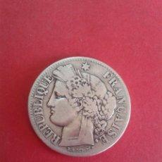 Monedas antiguas de Europa: FRANCIA. 2 FRANCOS DE 1871. PARIS A. TIPO CERES. PLATA. BONITA.. Lote 262456455