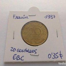 Monedas antiguas de Europa: FRANCIA 20 CENTIMOS 1997. Lote 62693576