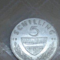 Monedas antiguas de Europa: AUSTRIA. 5 CHELINES DE PLATA DE 1961. EBC. Lote 62695536