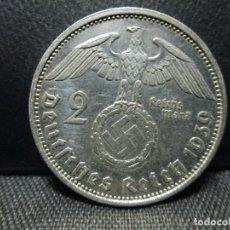Monedas antiguas de Europa: 2 MARCOS 1939 EPOCA III REICH PLATA. Lote 63003292