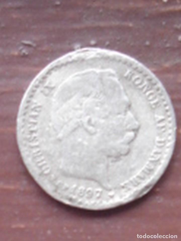 DINAMARCA. 10 ORE DE PLATA DE CHRISTIAN IX DE 1897. (Numismática - Extranjeras - Europa)