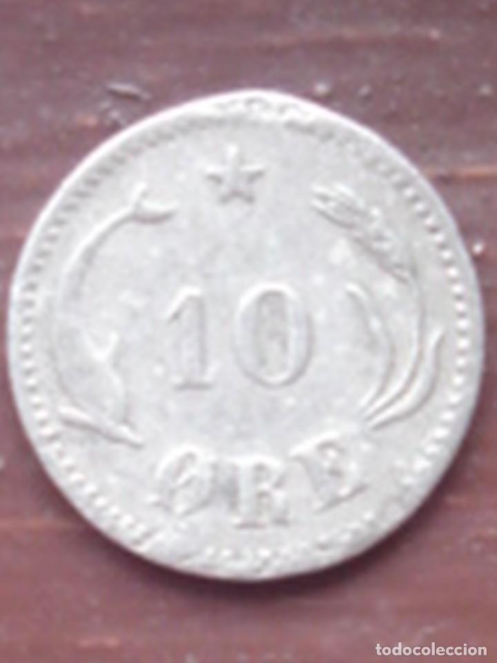 Monedas antiguas de Europa: Dinamarca. 10 ore de plata de Christian IX de 1897. - Foto 2 - 63272340