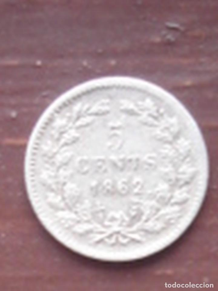 HOLANDA. 5 CÉNTIMOS DE PLATA DE 1862 DE GUILLERMO III. EBC. (Numismática - Extranjeras - Europa)