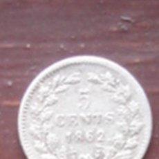 Monedas antiguas de Europa: HOLANDA. 5 CÉNTIMOS DE PLATA DE 1862 DE GUILLERMO III. EBC.. Lote 63334040