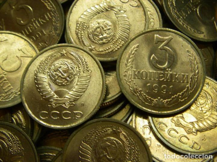 Monedas antiguas de Europa: Lote saco de banco sovietico con 2000 monedas.3 kopek 1991a.URSS - Foto 2 - 63457748