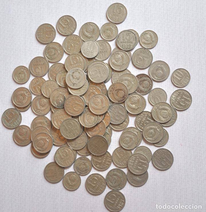LOTE 100 MONEDAS SOVIETICAS .10.15 KOPEK 1961-1991A .URSS (Numismática - Extranjeras - Europa)