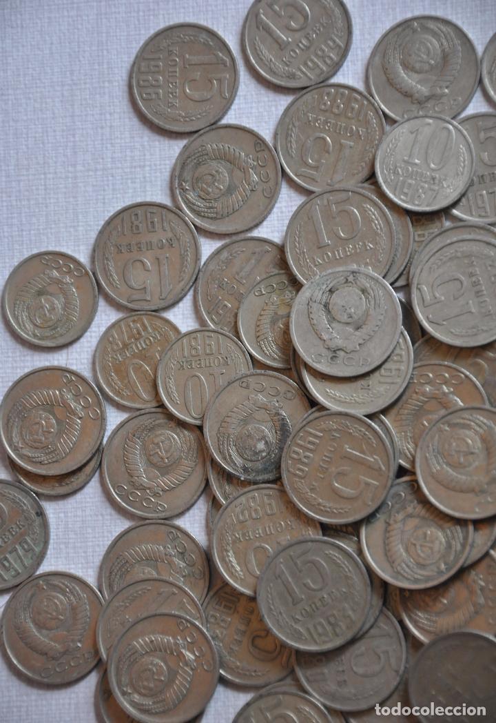 Monedas antiguas de Europa: Lote 100 monedas sovieticas .10.15 kopek 1961-1991a .URSS - Foto 3 - 208413630