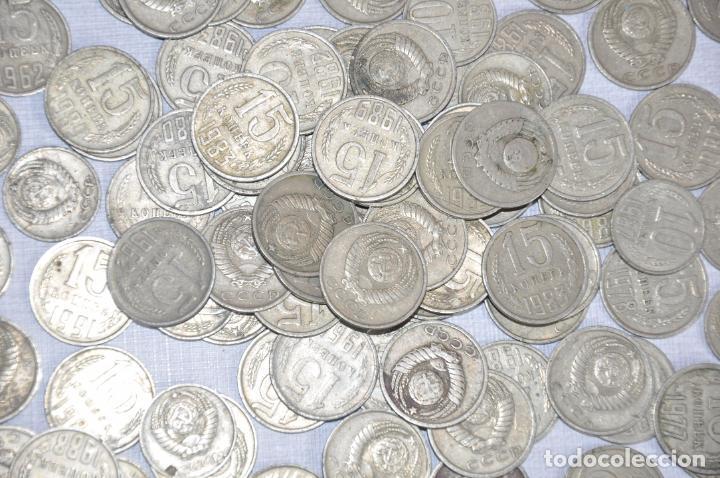 Monedas antiguas de Europa: Lote 100 monedas sovieticas .10.15 kopek 1961-1991a .URSS - Foto 2 - 208413630