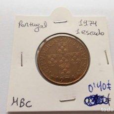 Monedas antiguas de Europa: PORTUGAL 1 ESCUDO 1974. Lote 63536176