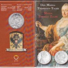 Monedas antiguas de Europa: CARTERA OFICIAL REACUÑACIÓN THALER 1780 TALER PLATA AUSTRIA, SILVER MARIA THERESA TALER. Lote 63589044