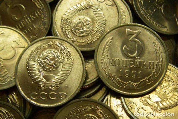 LOTE SACO DE BANCO SOVIETICO CON 2000 MONEDAS.3 KOPEK 1991A.URSS (Numismática - Extranjeras - Europa)