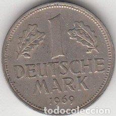 Alte Münzen aus Europa - ALEMANIA. 1 MARCO F 1969. MBC. - 63660043