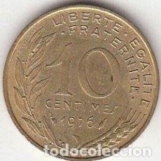Monedas antiguas de Europa: FRANCIA. 1976. 10 CÉNTIMOS. EBC.. Lote 64120179
