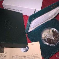 Monnaies anciennes de France: CANADA. ESQUÍ ALPINO. JUEGOS OLÍMPICOS DE CALGARY 1988. 20 DÓLARES. PLATA PURA. UNA ONZA TROY. Lote 64147823