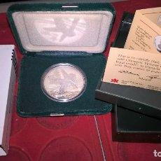 Monnaies anciennes de France: CANADA. PATINAJE ARTÍSTICO. OLÍMPICOS DE CALGARY 1988. 20 DÓLARES. PLATA PURA. UNA ONZA TROY. Lote 64148027