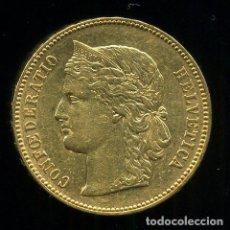 Monedas antiguas de Europa: MONEDA ORO, SUIZA , 20 FRANCOS 1892 , CONFEDERATIO HELVETICA , ORIGINAL , M1161. Lote 64591223