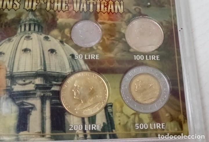 Monedas antiguas de Europa: INTERESANTE BLISTER DE MONEDAS DEL VATICANO DE 1996 CON IMAGEN DEL PAPA JUAN PABLO II - Foto 2 - 64821619