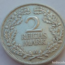 Monedas antiguas de Europa: ESCASA MONEDA DE PLATA DE 2 MARCOS ALEMANIA 1926 WEIMAR, CECA A, 2 REICHSMARK EBC. Lote 65615762