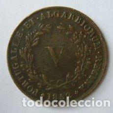 Monedas antiguas de Europa: V REIS PORTUGAL 1852. Lote 65706722