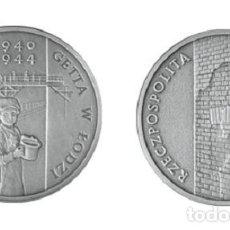 Monedas antiguas de Europa: POLONIA 20 PLN PLATA 2004 MEMORIAL DEL GHETTO DE LODZ - POLAND 20 ZLOTY. Lote 65747898