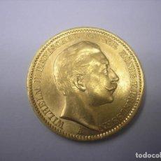 Monedas antiguas de Europa: 20 MARCOS DE ORO DE 1910 A. KAISER GUILLERMO II DE PRUSIA, ALEMANIA. Lote 66463210