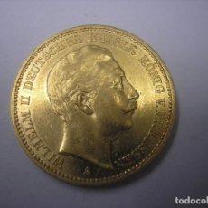 Monedas antiguas de Europa: 20 MARCOS DE ORO DE 1897 A. KAISER GUILLERMO II DE PRUSIA, ALEMANIA. Lote 66464042