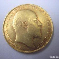 Monedas antiguas de Europa: 1 LIBRA DE ORO DE 1907 , REY EDUARDO VII DE GRAN BRETAÑA. Lote 66465866