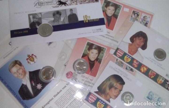 BONITO LOTE DE CARTAS NUMISMATICAS DE PRINCESAS Y PRINCIPES NUMISBRIEF (Numismática - Extranjeras - Europa)