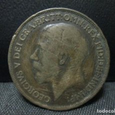 Monedas antiguas de Europa: ONE PENNY 1917 GEORGIUS V GRAN BRETAÑA BC. Lote 67051750