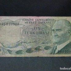 Monedas antiguas de Europa: 10 LIRAS 1930 TURKIA. Lote 67422813