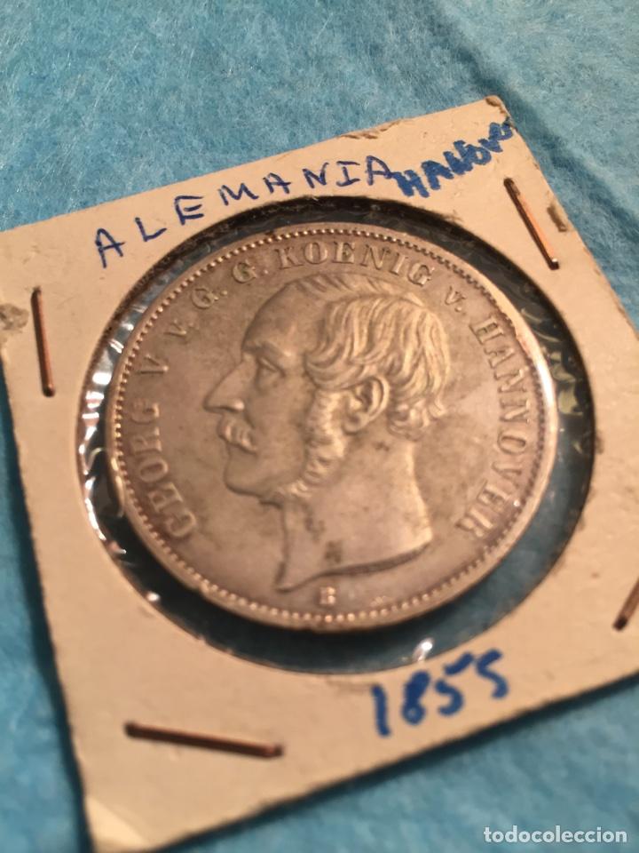 MONEDA ALEMANA DE PLATA THALER HANNOVER 1855. (Numismática - Extranjeras - Europa)