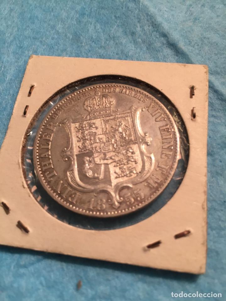 Monedas antiguas de Europa: Moneda Alemana de plata Thaler Hannover 1855. - Foto 2 - 67442210