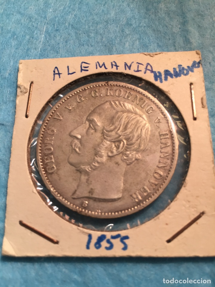 Monedas antiguas de Europa: Moneda Alemana de plata Thaler Hannover 1855. - Foto 3 - 67442210