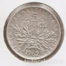 Monedas antiguas de Europa: FRANCIA. 5 FRANCOS DE PLATA DE 1962. Lote 160747202