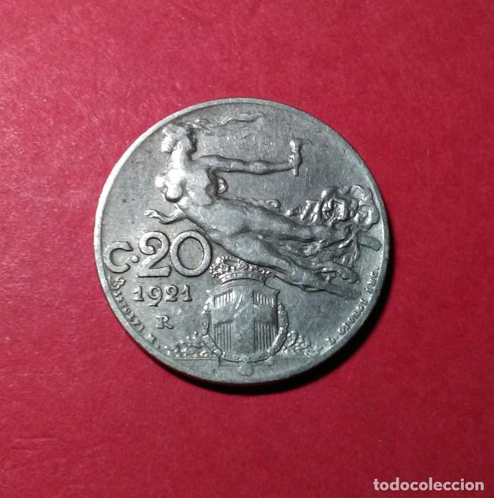 Monedas antiguas de Europa: ITALIA. 20 CENTESIMI. 1921. - Foto 2 - 68601261
