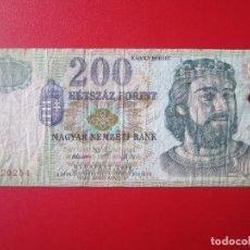 Monete antiche di Europa: HUNGRIA. BILLETE DE 200 FLORINES. 2006. Lote 69287629