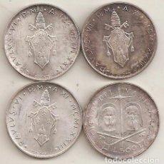 Monedas antiguas de Europa: VATICANO. 4 MONEDAS DIFERENTES DE 500 LIRAS. PLATA. AÑOS 70. Lote 71207697