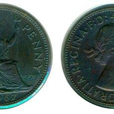 Monedas antiguas de Europa: GRAN BRETAÑA - INGLATERRA ONE PENNY 1967 (EBC-) - ELIZABETH II. Lote 71813395