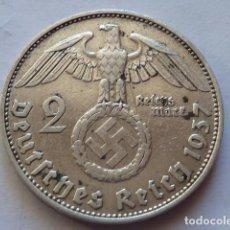 Monedas antiguas de Europa: MONEDA DE PLATA 2 MARCOS 1937 CECA D, ALEMANIA NAZI, MARISCAL PAUL VON HINDENBURG. Lote 71854671