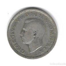 Monedas antiguas de Europa: MONEDA. INGLATERRA. 6 PENCE. 1941. PLATA. Lote 71867623