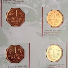 Monedas antiguas de Europa: BONITO BLISTER DE 4 MONEDAS AÑO 1950 CON DIFERENTES CECAS A LA DESPEDIDA DEL MARCO DE ALEMANIA . Lote 72201471