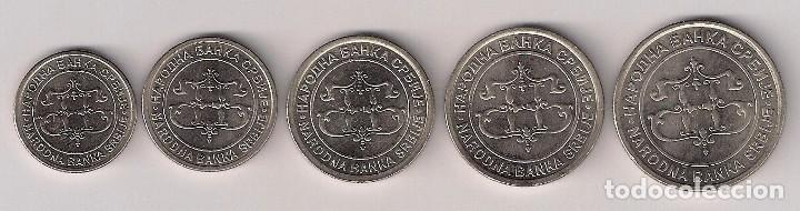 SEBIA - SERIE DE 5 MONEDAS 2003 - SIN CIRCULAR (Numismática - Extranjeras - Europa)