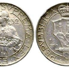 Monedas antiguas de Europa: 10 LIRA SAN MARINO 1932 PLATA. Lote 73303289