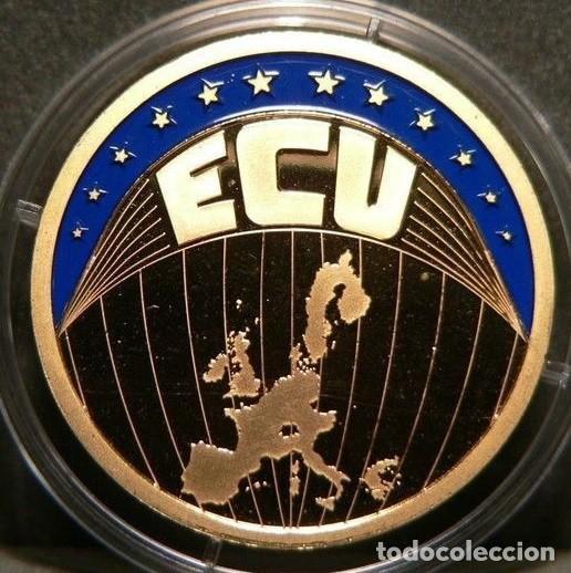 MONEDA ECU EUROPA 2002 EN SU CAPSULA DE PROTECCION CALIDAD PROOF (Numismática - Extranjeras - Europa)