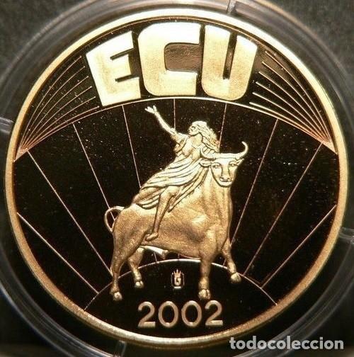 Monedas antiguas de Europa: MONEDA ECU EUROPA 2002 EN SU CAPSULA DE PROTECCION CALIDAD PROOF - Foto 2 - 73442131