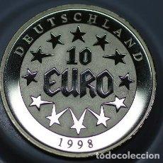 Monedas antiguas de Europa: MONEDA PLATA DE DEUTSCHLAND ALEMANIA 10 EURO AÑO 1998 EUROPA EN SU CAPSULA PROTECTORA. Lote 73442723