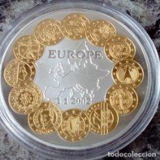 Monedas antiguas de Europa: BONITA MONEDA CONMEMORATIVA AL COMIENZO DEL EURO EN EUROPA EL 1.1.2002 EN CAPSULA PROTECTORA. Lote 99782868