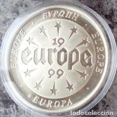 Monedas antiguas de Europa: CURIOSA MONEDA CONMEMORATIVA A EUROPA DEL AÑO1999 EN SU CAPSULA PROTECTORA. Lote 73446115